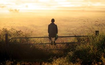 girl-backpack-thinking-sunset-field-fence-moment-field-reeds-hd-fullscreen
